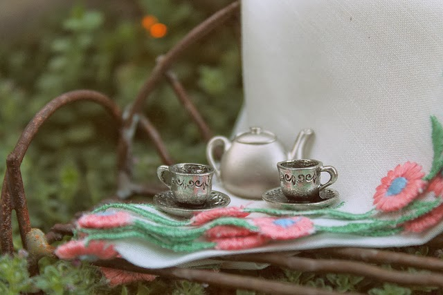 Tea in the Fairy Garden at A Cuppa Tea With Me