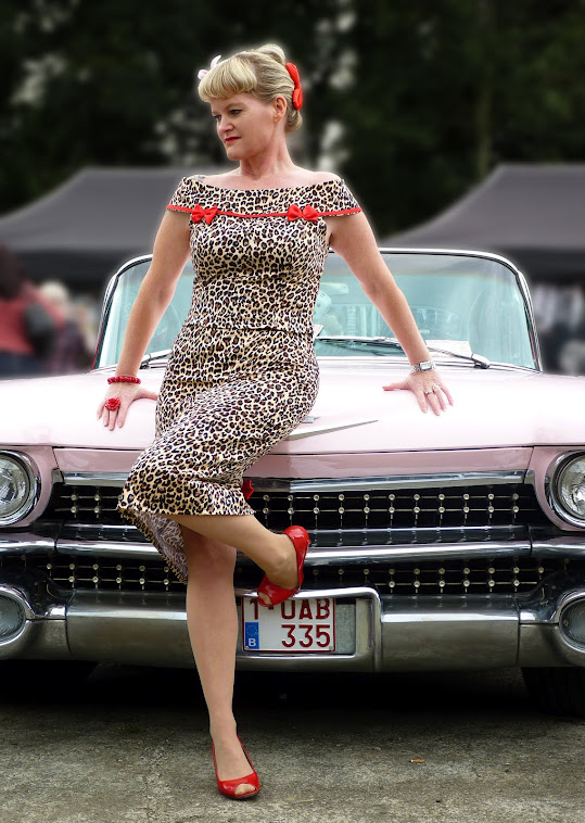 leopard marilyn pin-up top with matching pencil skirt