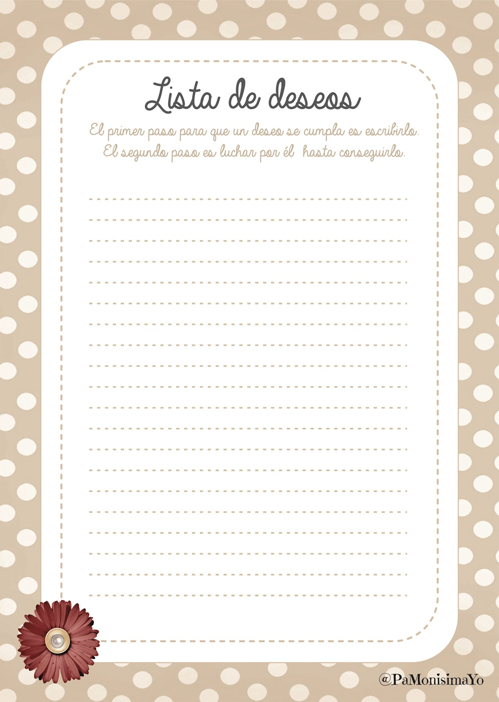 Lista de deseos wishlist @pamonisimayo