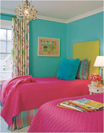 Key interiors by shinay decorating girls room with two - Turquoise and pink bedroom ...