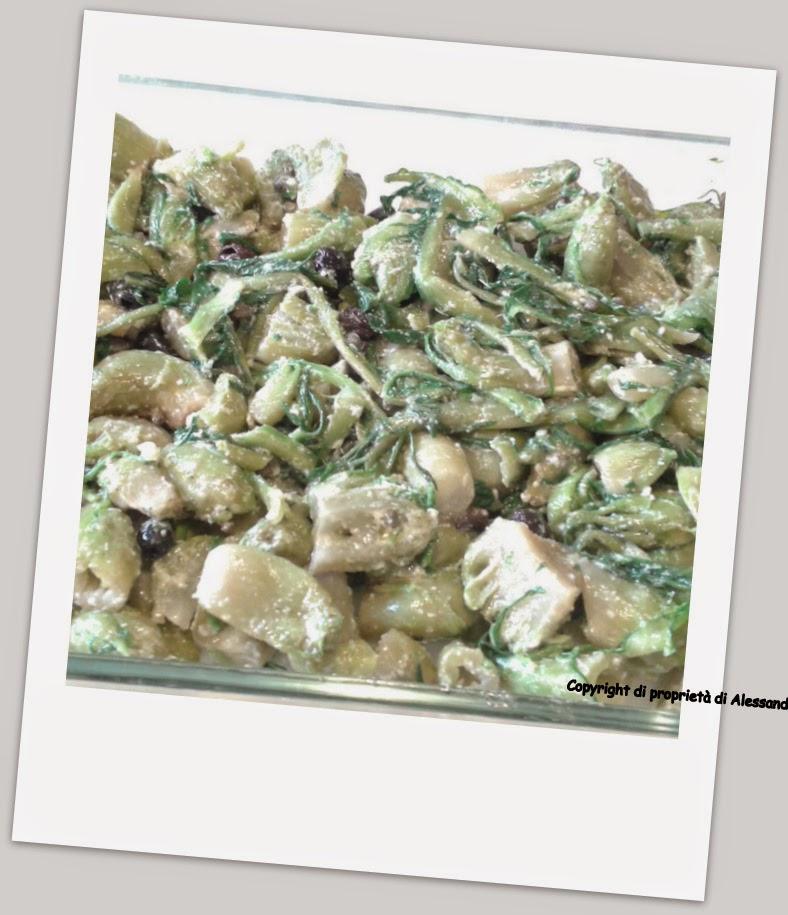preparazione ricetta cicorie ala forno