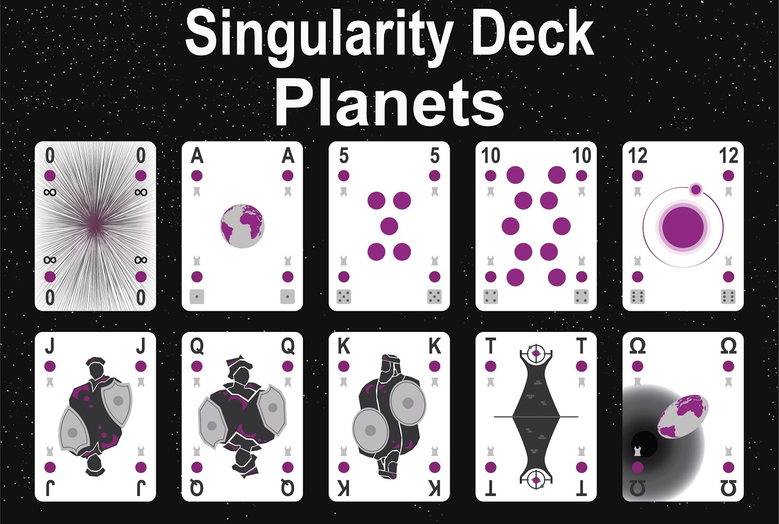 The Singularity Deck - Planets Art