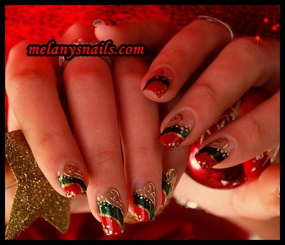 Melanys nails u as decoradas modelos para navidad for Decoracion de unas para navidad