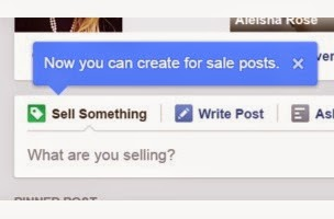 Face book sell button