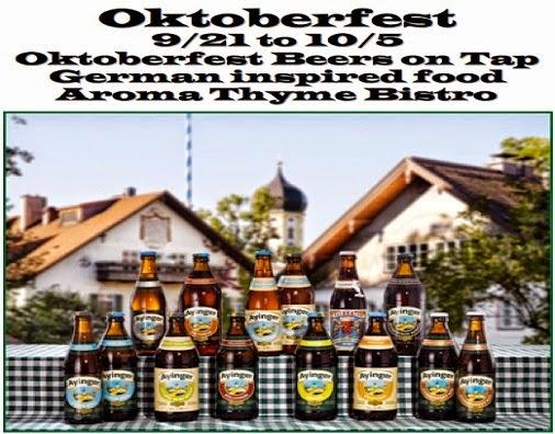 Oktoberfest 9/21 to 10/5