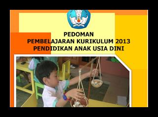 Download Pedoman Pembelajaran PAUD Kurikulum 2013