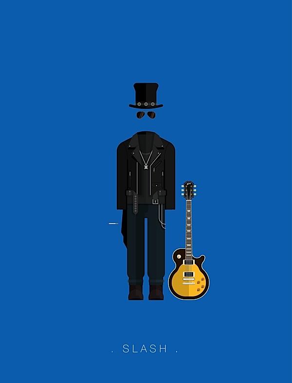 Slash poster estilo plano
