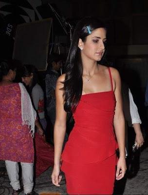 Katrina Kaif cute in red dress