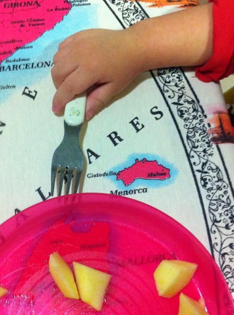 Bruno cenando en Menorca