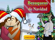 juegos de besos de navidad