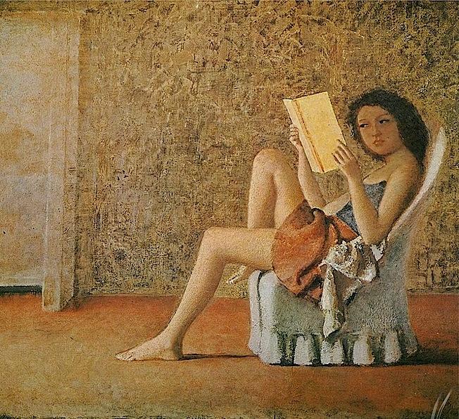 Balthus, Katia Reading, 1974