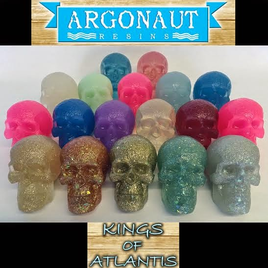 Kings Of Atlantis Clear Tint Resin Skulls by Argonaut Resins