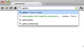 Омнибокс Google Chrome