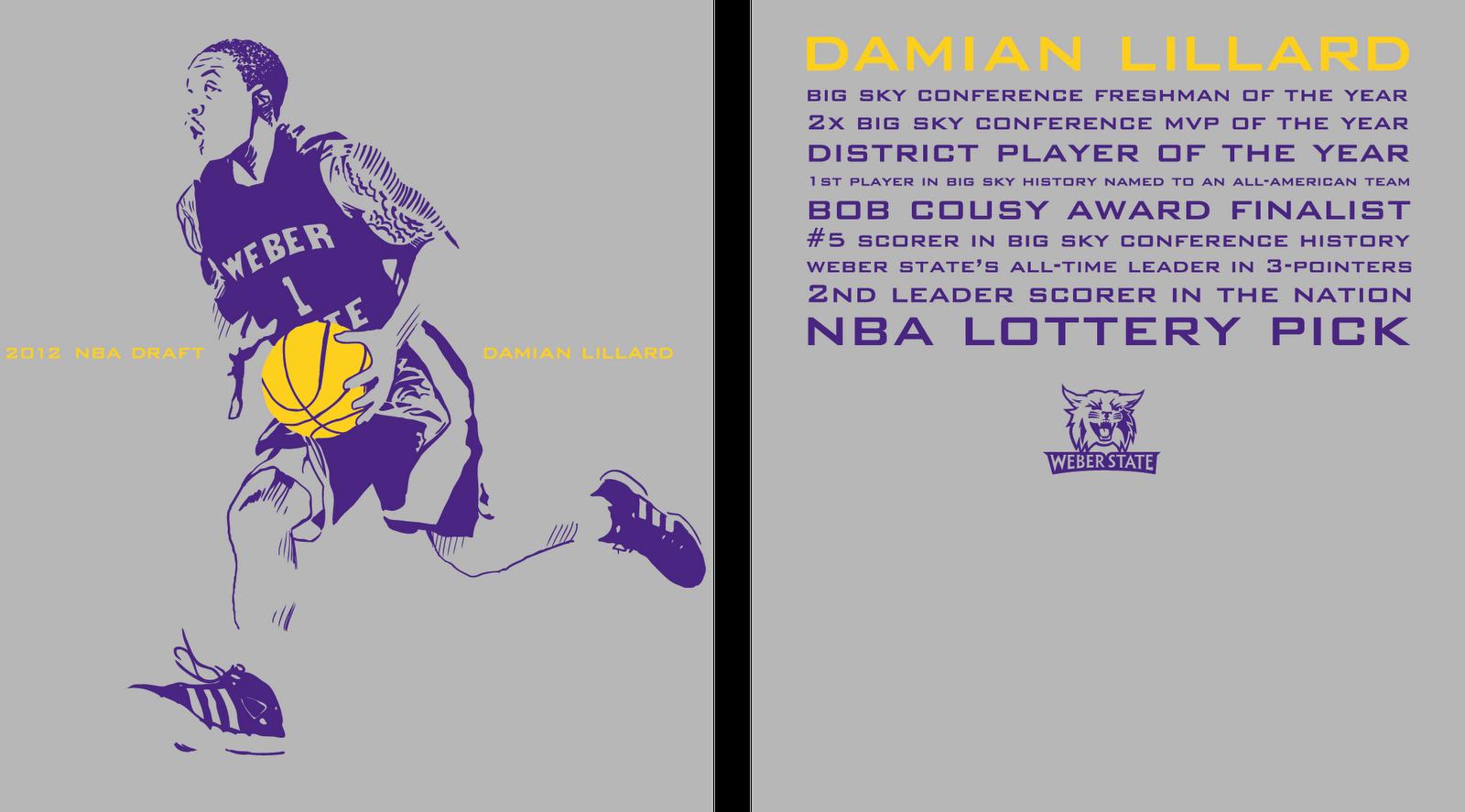 Kyle Ferrin Damian Lillard NBA Draft Event T Shirt