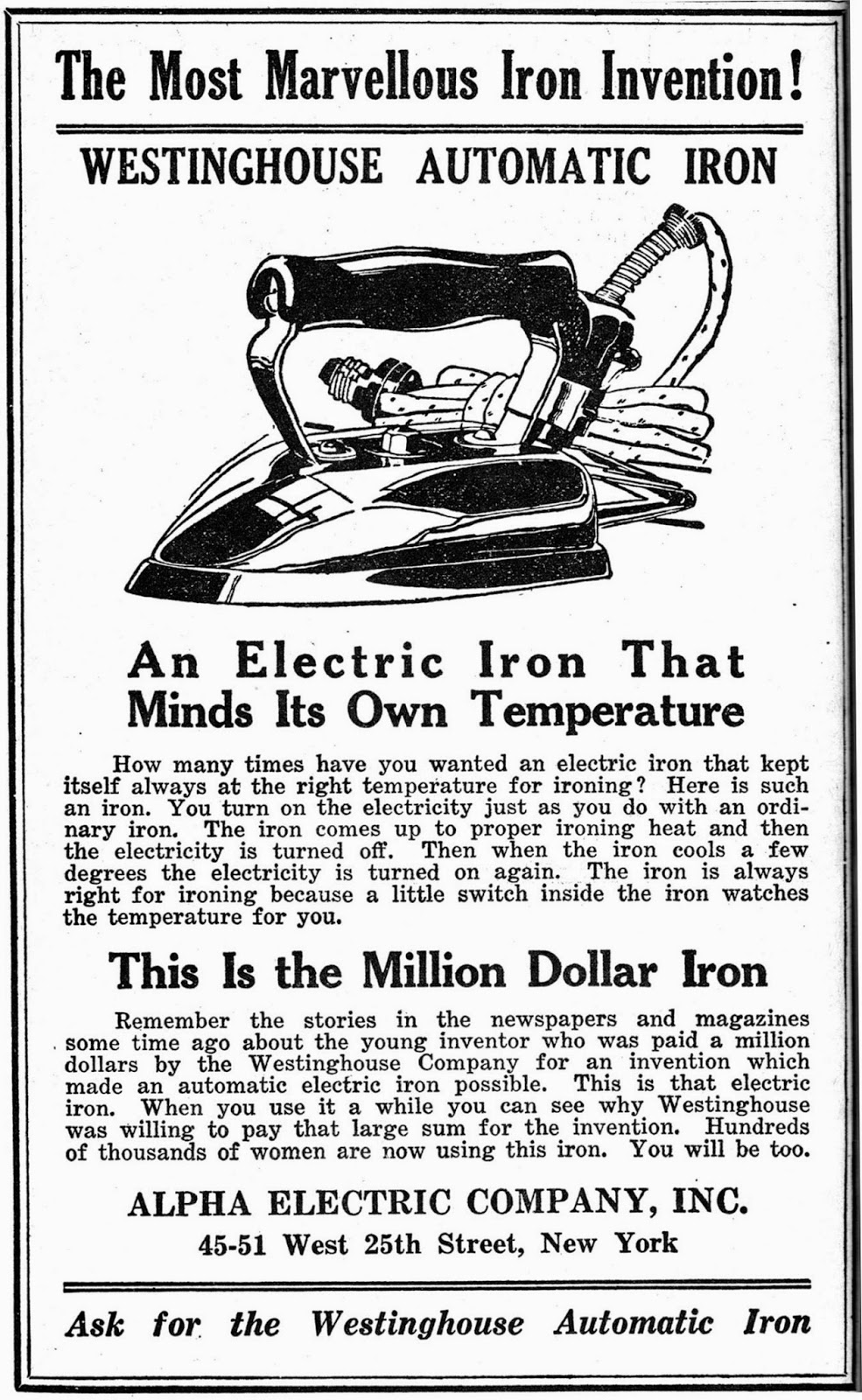 Electric Iron 1882 ~ Progress is fine but it s gone on for too long john