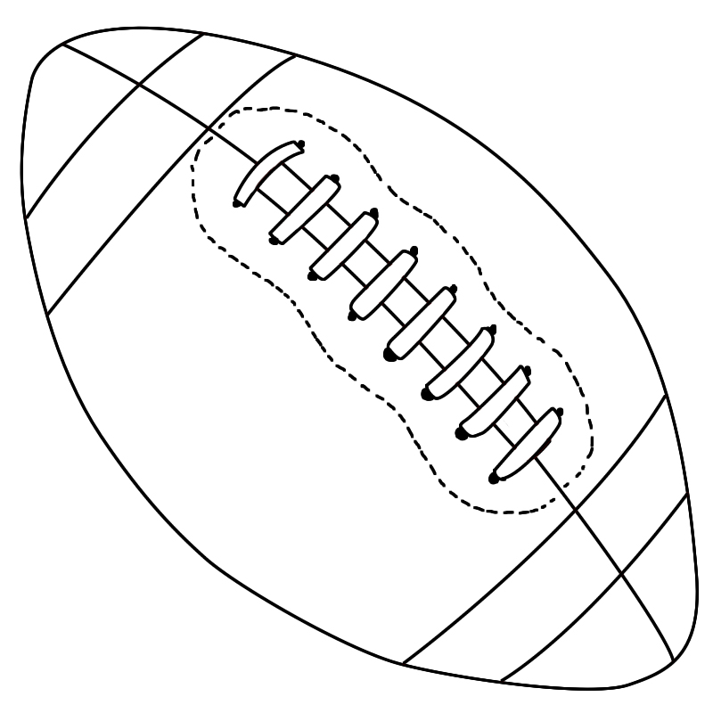 Line Drawing Football : How to draw a football central