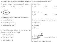 Soal UAS Matematika Kelas 2 Semester 1/ Ganjil