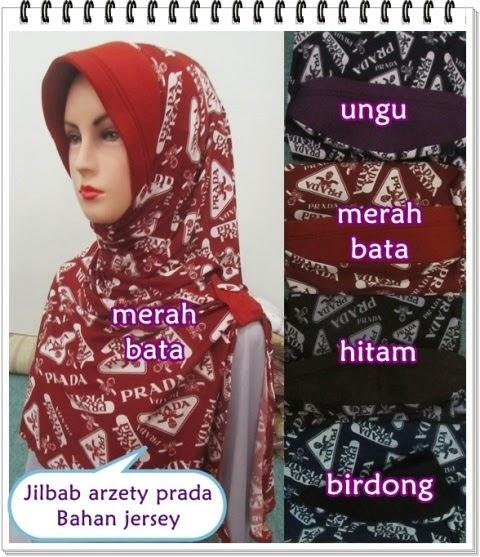 Jilbab Azerty Jersey Motif Prada
