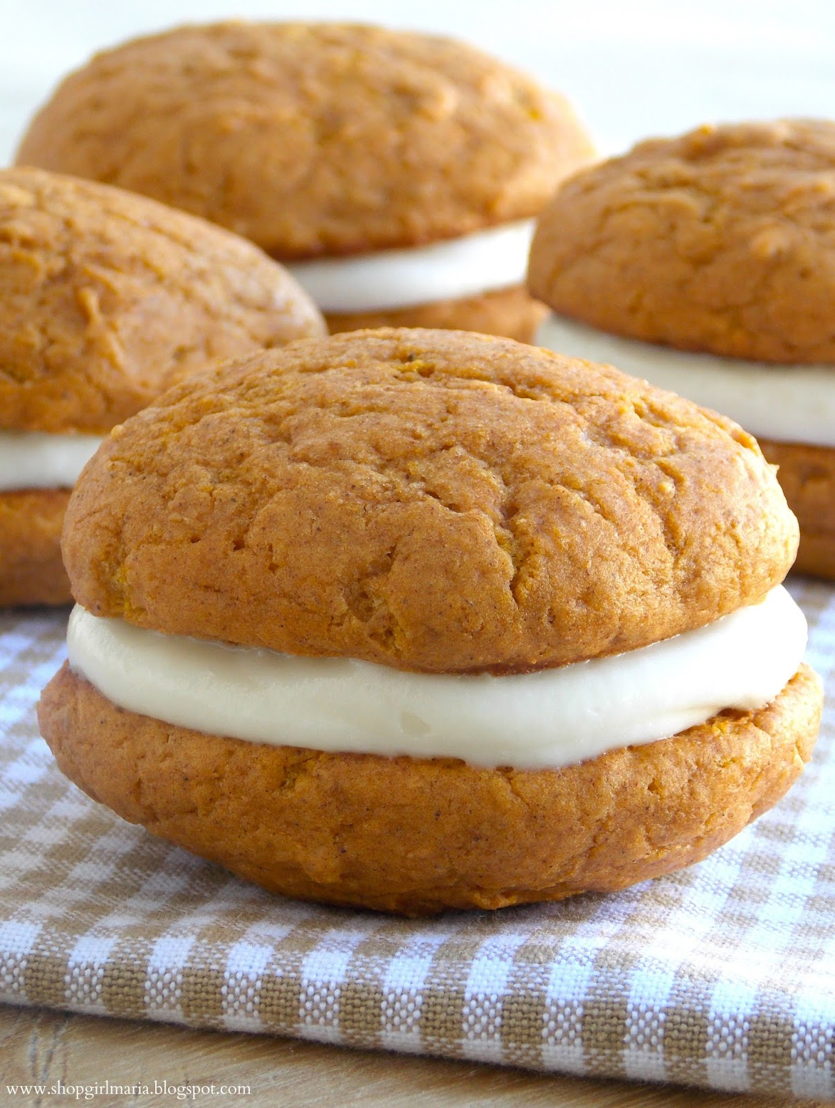 Shopgirl: Pumpkin Spice Whoopie Pies with Cream Cheese Filling