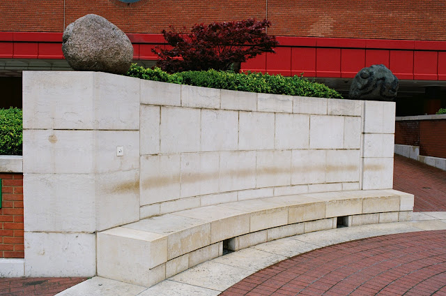 London bench British Library Kings Cross