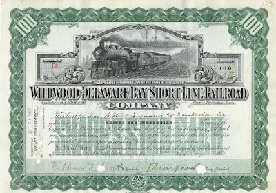 share of the Wildwood and Delaware Bay Short Line Railroad company