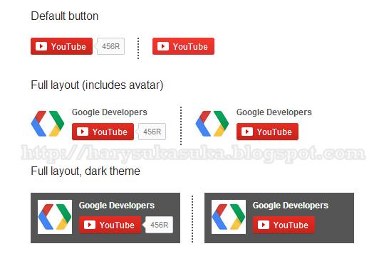 Cara Membuat Tombol Langganan / Subscribe Youtube untuk blog
