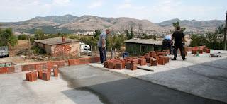 The perimeter wall takes shape