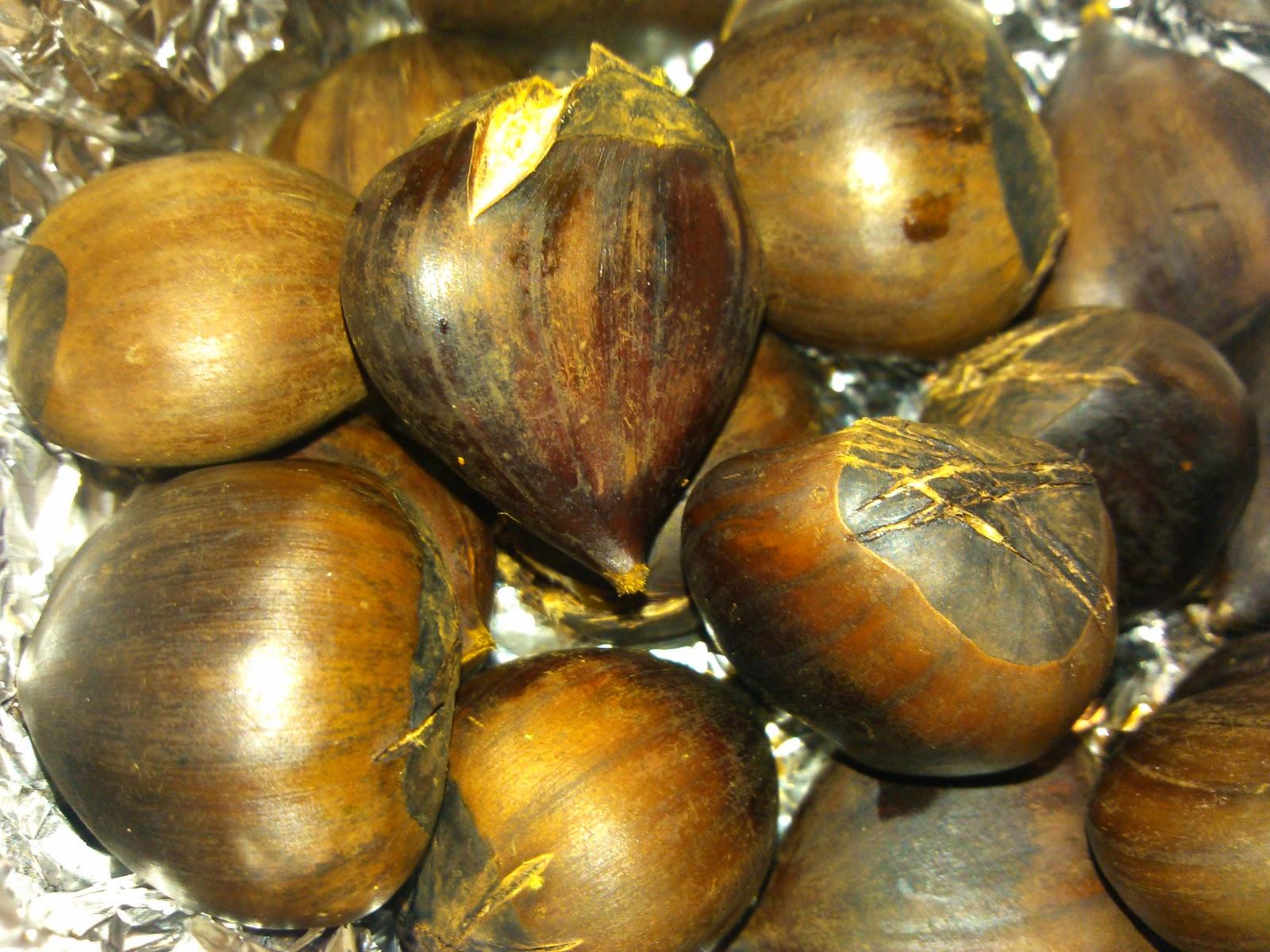Indianfoodbazaar: Roasted Masala Chestnuts(Vegan)