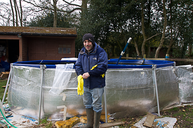 Preparing for the brood fish pond set up adam byer koi for Koi fish tank setup
