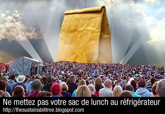 Ne mettez pas votre sac de lunch au réfrigérateur