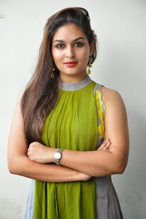 Actress Prayaga Martin Latest Picture Gallery at Pisachi Movie Success Meet 019.JPG