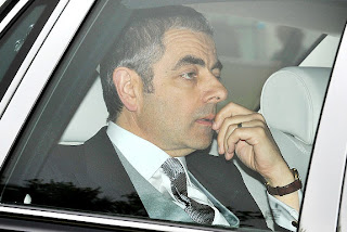 Mr. Bean attends the royal wedding.