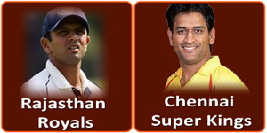 CSK Vs RR on 22 April 2013