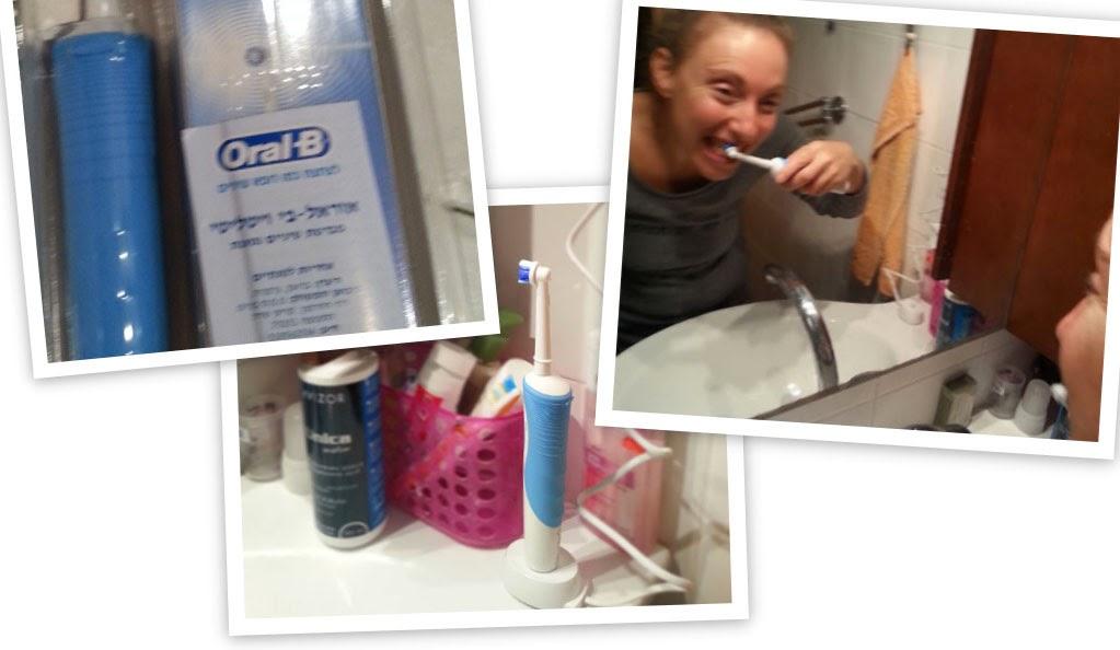 המפגש הראשון שלי עם המברשת שיניים החשמלית של OralB