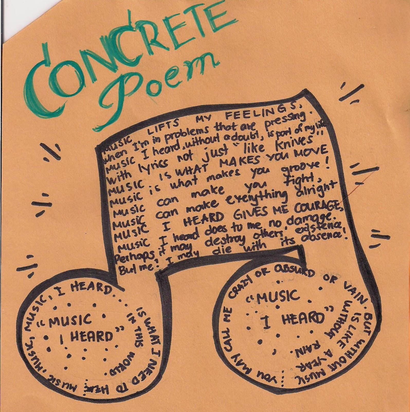 how to write concrete poems