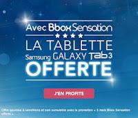 Une Samsung Galaxy Tab 4 offerte chez Bouygues Telecom