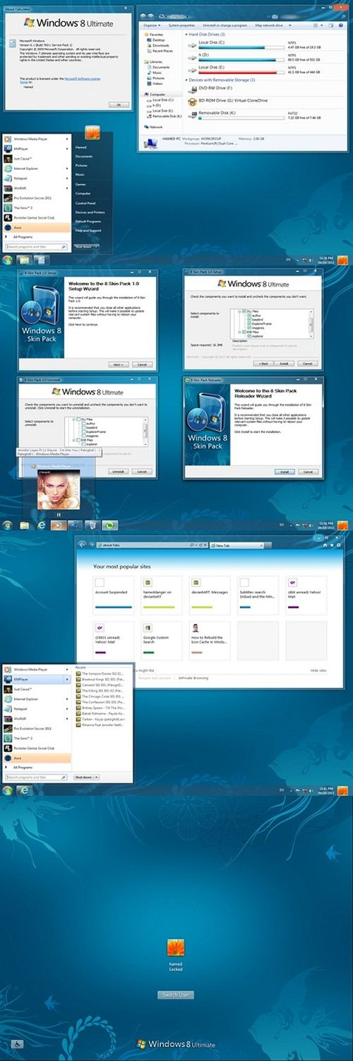 Windows 8 Skin Pack (For Windows 7) 4