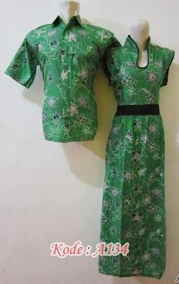 dress batik pasangan lengan pendek