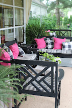 Black White Front Porch Furniture
