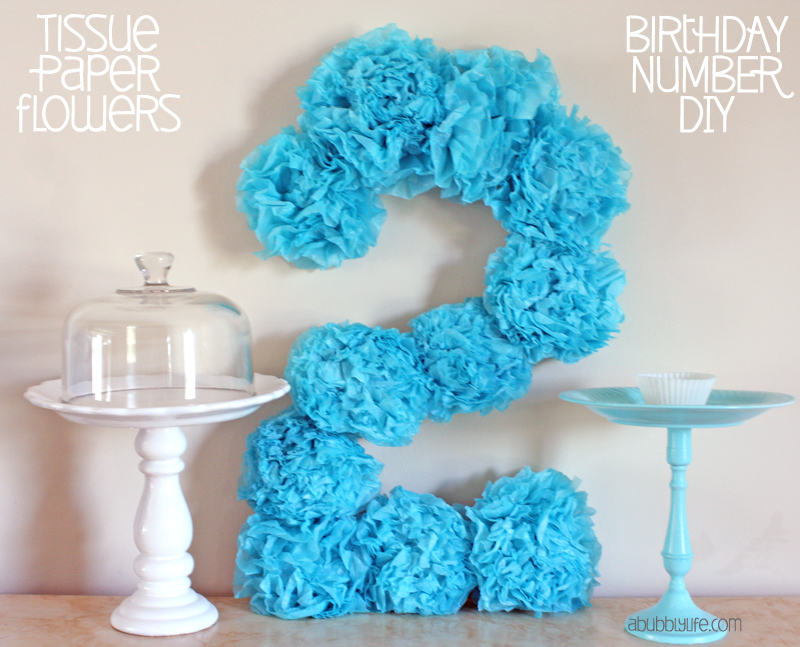 A bubbly life paper flowers birthday number diy for Number 1 decorations