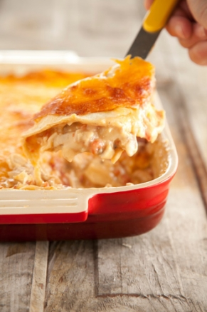 Mexican Chicken Casserole with Cheddar Cheese and Tomatoes | Cook'n is ...