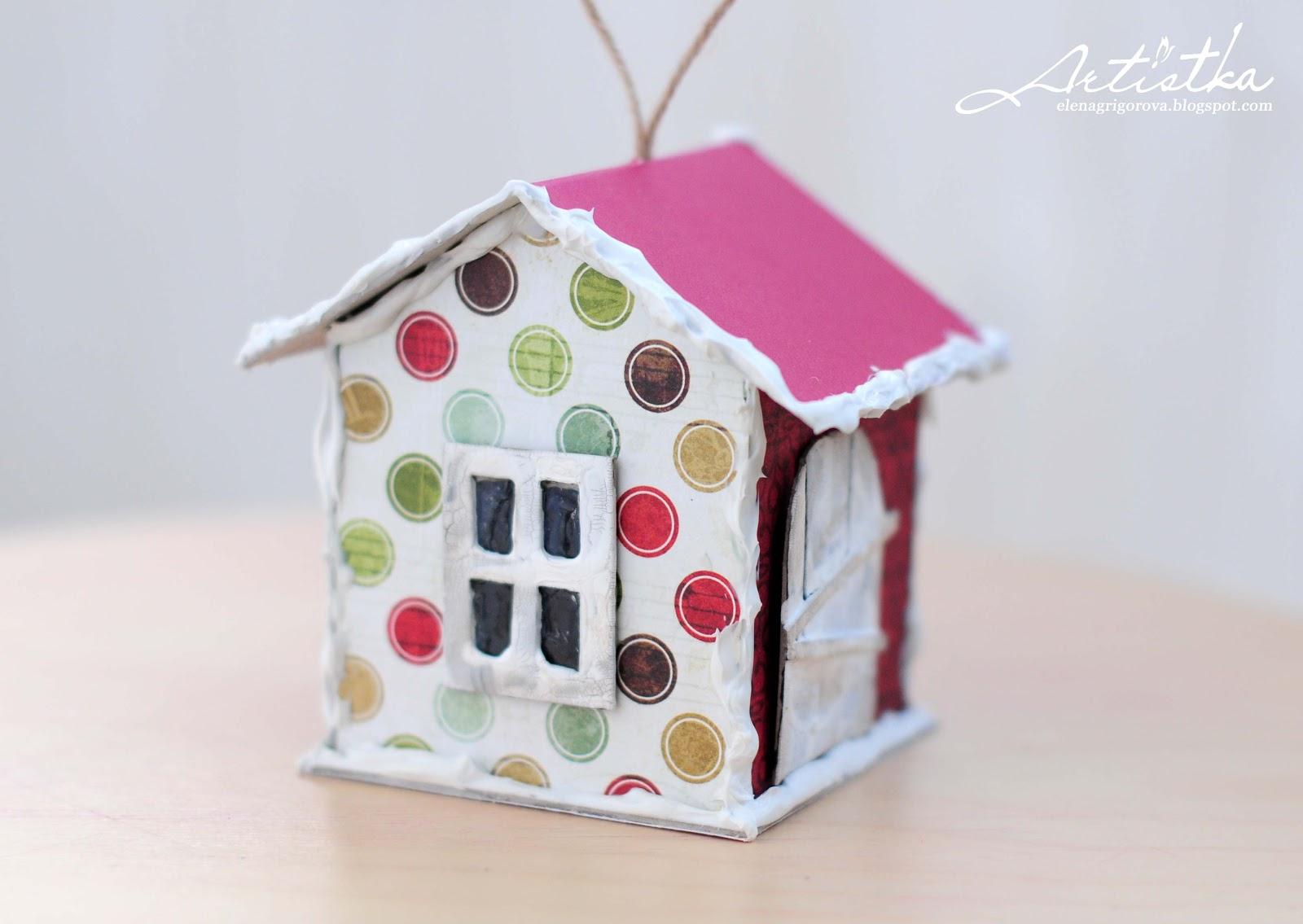 Красивый домик из картона своими руками