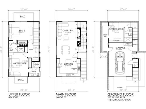 Contemporary House And 3 Bedroom Modern House Plans Designs 2014