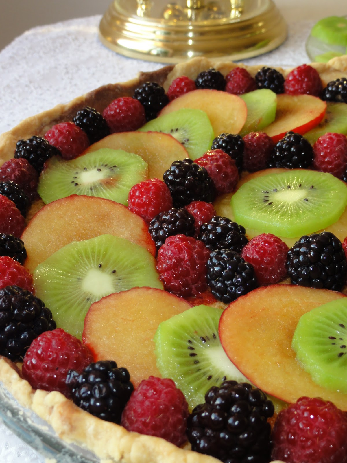 Pate+Brisee+Peaches Rathai's Recipes: Fruit frangipane tart