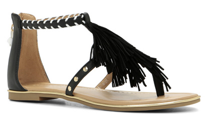 aldo fringe sandals