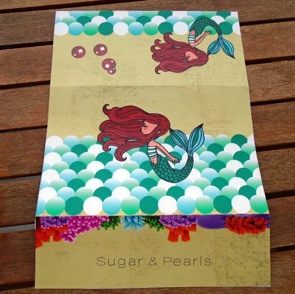 Προσκλητήριο βάπτισης γοργόνα by Sugar & Pearls