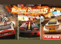لعبة السباق والتدمير Burnin Rubber 3d  اون لاين بدون تحميل - العاب 3d