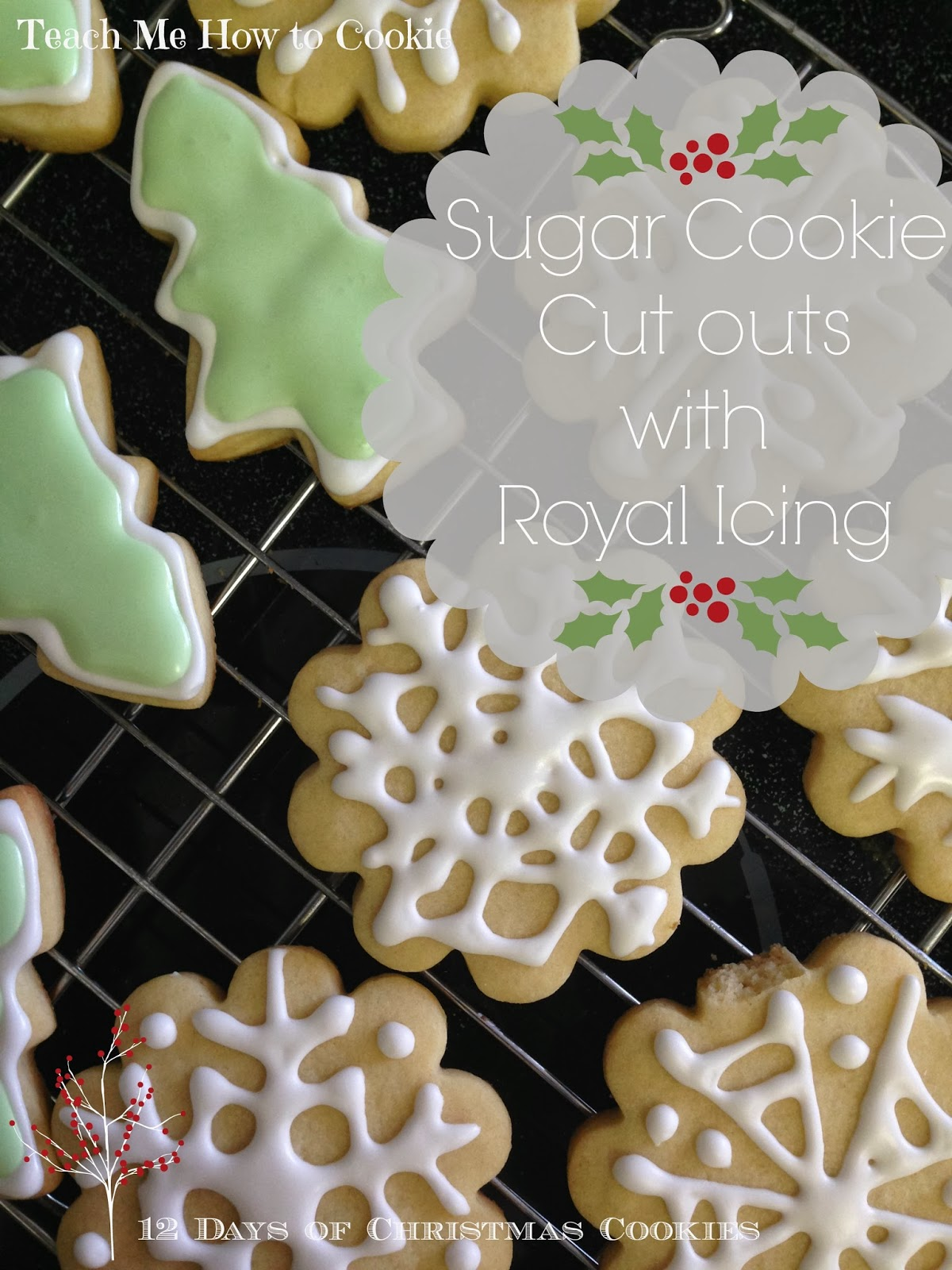 Sugar Cookie Cut outs with Royal Icing Recipe
