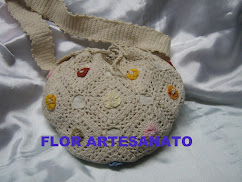 bolsa de crochê cordão
