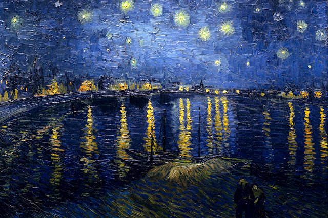 "Picture of ""Starry Night Over the Rhone"" by Vincent van Gogh, 1888"